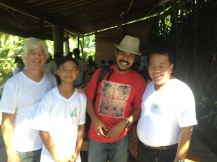 Dave, Eco Club President Kawenuh, DekGun of Yoga Barn, and Principal of SMA1