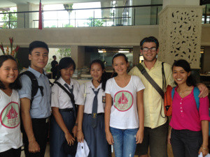 Isabel and Melati from Bye Bye Plastic Bag with Klungkung Eco Club Leaders Gita and Reny, Komank from Udayana University , Puji from Keep Bali Beautiful and Lucas from DASH